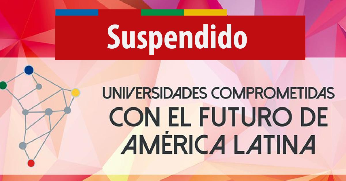 Suspendido el IV Congreso de Extensión Universitaria de AUGM