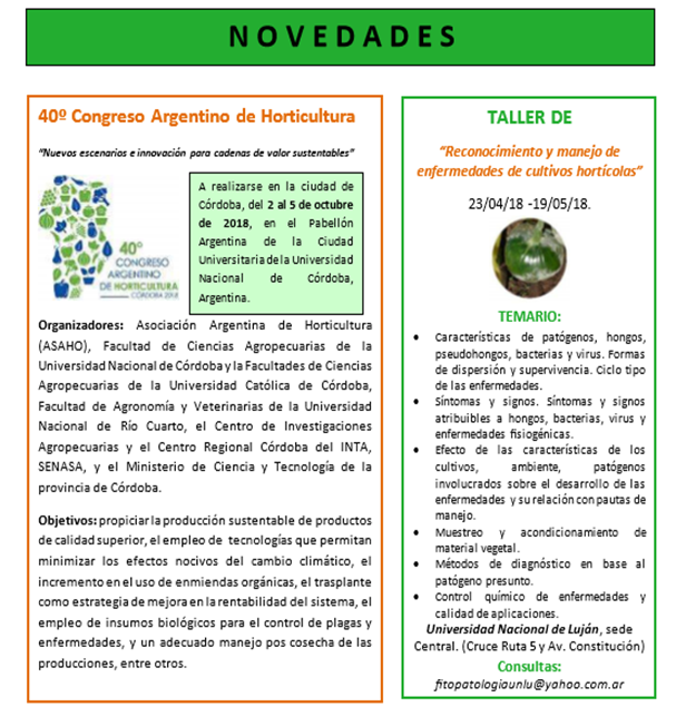 40º Congreso Argentino de Horticultura