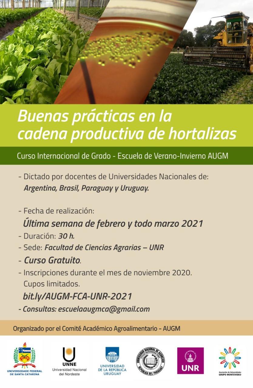 Escuela de Verano Virtual: Buenas Practicas en la cadena productiva de Hortalizas»