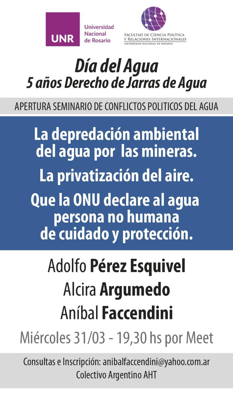 Actividades programadas CAA-AUGM Día Mundial del Agua: Universidad Nacional de Rosario