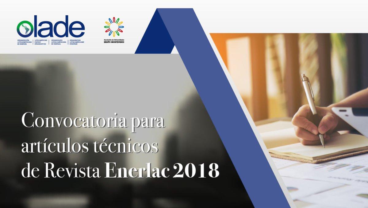 Convocatoria para presentar trabajos a la revista especializada ENERLAC