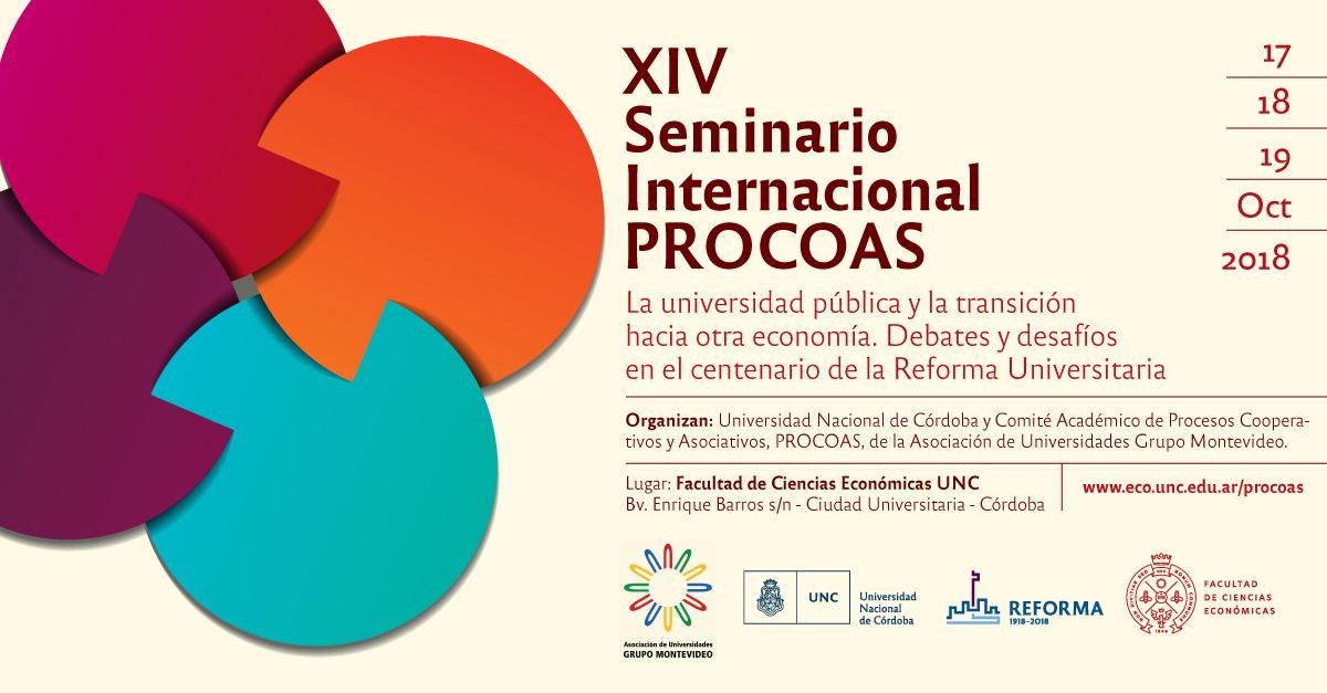 XIV SEMINARIO INTERNACIONAL PROCOAS, Córdoba 2018.