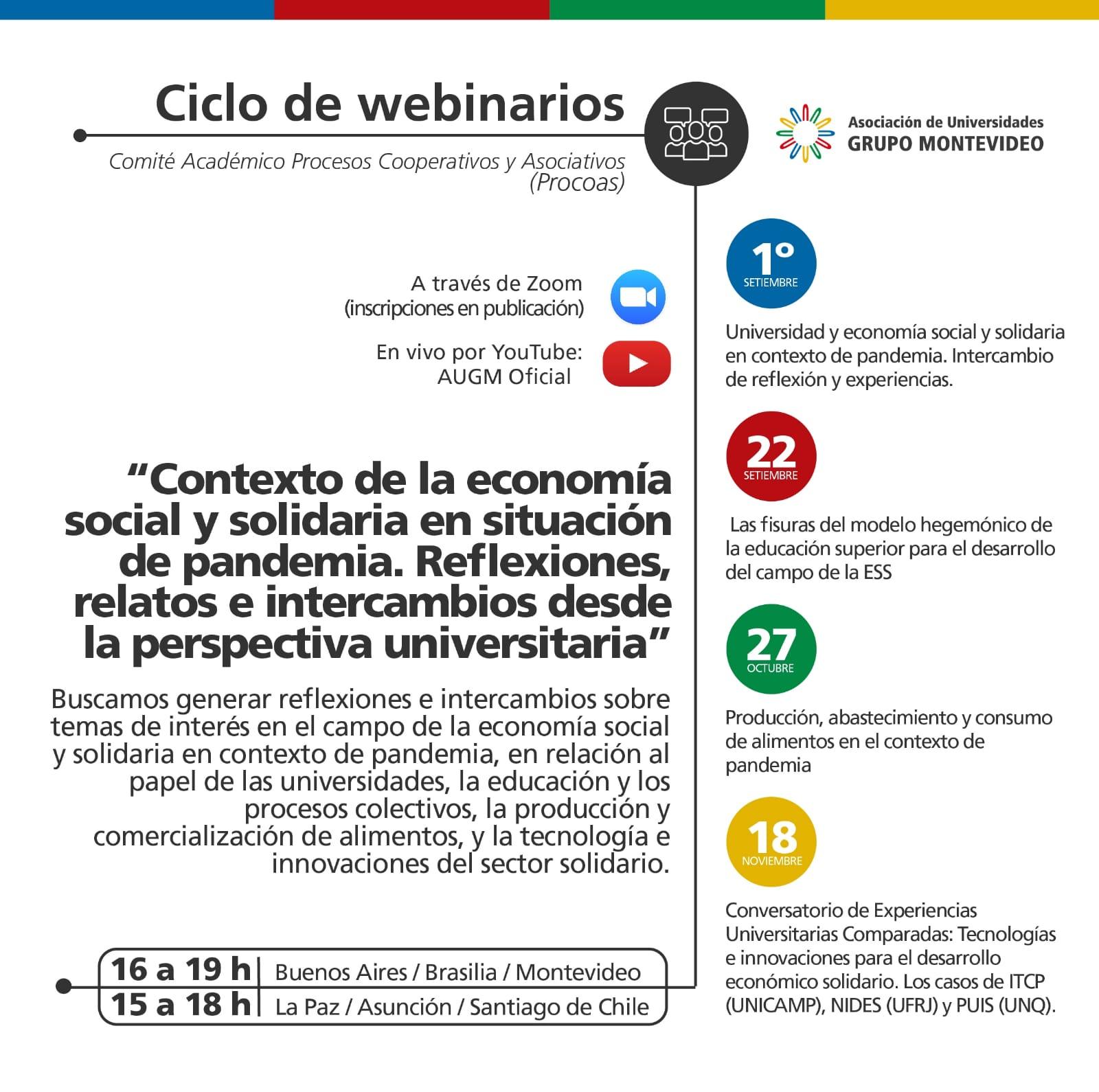 Ciclo de Webinarios del Comité Académico Procesos Cooperativos y Asociativos